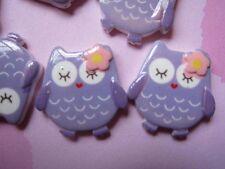 20 Owl Resin 22mm Flatback-Lavender B215