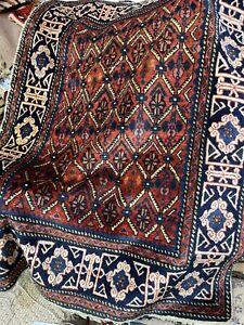 Auth:  Antique Caucasian Rug  CRISP  Rare Armenian Village Collectible 3X4.6 NR
