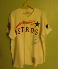Joe Morgan Signed Mitchell and Ness Astros Jersey PSA LOA V04702