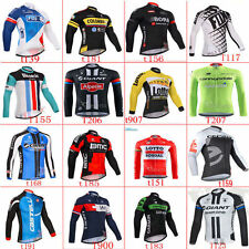 Winter New Hot Thermal Fleece long sleeve Mens team cycling jersey 2017