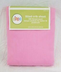 Circo 100% Cotton Pink Fitted Crib Sheet NIP