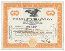 Mar-Tex Oil Company Stock Certificate (Texas)