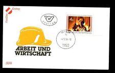 Austria 1986 world Of Work FDC #C2836