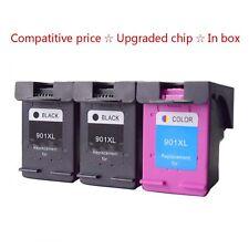 3x Premium HP 901 XL Black Colour Ink Cartridge For Officejet 4500 J4680c