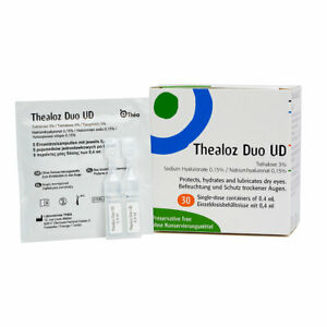 Thealoz Duo UD Dry Eye Drops 30 x 0.4ml preservative free by Thea