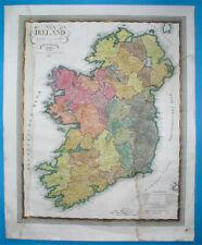 1837 XXL RARE ORIGINAL MAP IRELAND BELFAST DUBLIN ULSTER MUNSTER CORK; Weiland