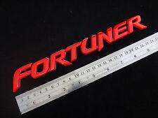 "RED REAR LOGO "" FORTUNER "" EMBLEM TAPE DECAL FOR TOYOTA FORTUNER SUV 2005-2014"
