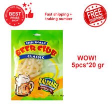 BEER CLUB Dried Fish Snack Classic Squid Rings 99g 3,4 oz