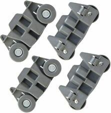 4Pcs W10195416V Dishwasher Wheels W10195416 Lower Rack Kit for Whirlpool,Kenmore