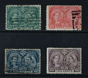 CANADA, QV, 1897, four stamps from set to 10c. value, used condition, Cat £117.