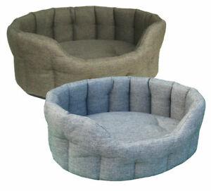 Pet Dog Beds, P&L Premium,Oval Basket Weave Softee Dog Bed, Superior Pets, Tweed