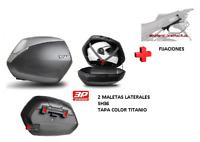 KIT SHAD fijacion + maletas laterales tapa c. titanio SH36 HONDA VFR 800 (02-13)