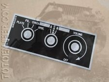 PLAQUETTE POSTE RADIO BC620 BC659 BOUTONS 1 US ARMY SIGNAL CORPS JEEP WILLYS