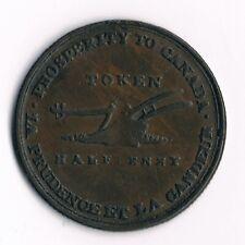 """Upper  Canada """"Lesslie 1/2D"""" 1816: UC-2A4, Comma above """"A"""""""