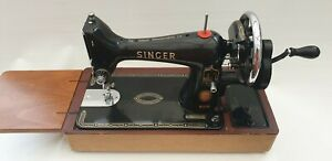 SINGER 99K SEWING MACHINE with Extras and Hard Cover in SUPERB CONDITION
