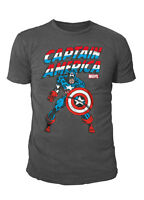 Marvel Comics - Captain America Fight & Run Herren T-Shirt Grau (S-XL)