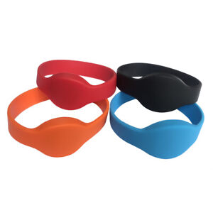 RFID Silicone Wristband 13.56MHZ MIFARE Classic 1K ISO14443A Bracelet -5