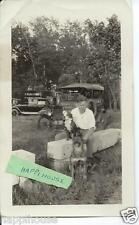 1930s Photograph Man with 2 Dogs D B Schunke Furniture Buffalo NY Truck