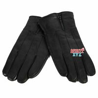 Men's Winter Warm Genuine Leather Gloves Thermal Insulation Lambskin
