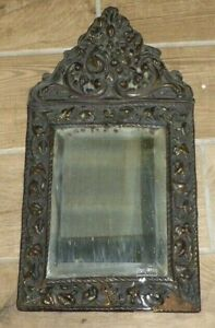 Rare Antique French Repoussé Mirror c1900
