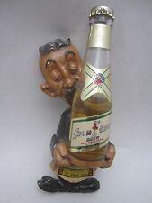 Vintage Miller High Life Miniature Beer Bottle W/ Chalk Bartender Joe Figure