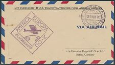 DOX TRANS-ATLANTIC FLIGHT COVER AMERICA TO EUROPE MAY 21,1932 BR7981