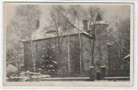 Ansichtskarte Lehrberg/Ansbach - Blick auf das Schloss im Winter - schwarz/weiß