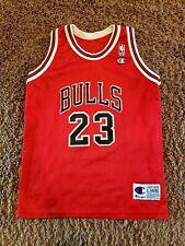 Chicago Bulls Jersey Michael Jordan NBA Basketball Red Youth Large 14-16 Vintage
