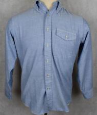 L.L. Bean Freeport Maine USA Men's Blue Jean Button Front Shirt 15.5/33 (Medium)