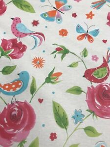 BIRD Polycotton Fabric Material 1.40M wide  Clearance £6.99 per M