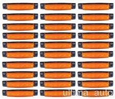 30 X SEGNALATORE LUCE INGOMBRO 6 LED LATERALE 24V 24VOLT ARANCIO CAMION RIMORCHI