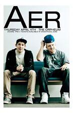 AER * 11 x 17 Original Concert Poster