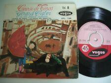 COURSE DE TOROS 45T GERARD CALVI ET SON GRAND ORCHESTRE . VOGUE EPL.7500.
