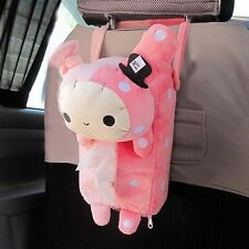 NEW Pink Car accessories Rilakkuma San-X Cute Plush Car Tissue Box Cover S