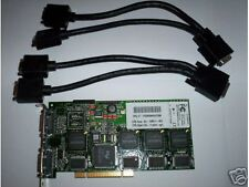 Matrox Multi-monitor G200MMS Quad monitors with Cables,PCI type (not PCI-E)