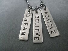 DREAM BELIEVE ACHIEVE~18 inch~MOTIVATIONAL NECKLACE