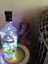 ~ NEW ~ **Bling Lights** CRUZAN Rum Empty LIQUOR BOTTLE Lamp Multi Colored LEDs