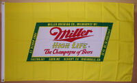 Miller High Life Beer Flag 3 X 5 Deluxe Indoor Outdoor Banner