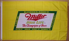 Miller High Life Beer Flag 3 X 5 Deluxe Indoor Outdoor Banner