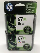 HP 67XL Black And Tri-Color Ink Cartridge 2 Pack