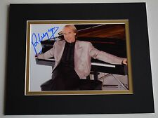 Richard Clayderman Signed Autograph 10x8 photo display Piano Music AFTAL COA