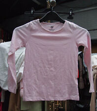 H&M Lovely Pink Long Sleeved Girl's Kids T-Shirt Top 100% Cotton Age 4-6