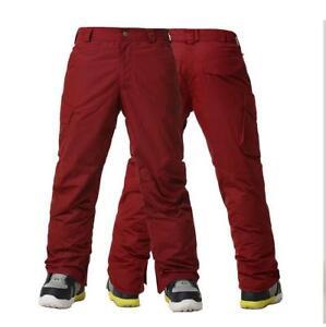 GSOU SNOW Men Warm Snow Pants Double Board Snowsuits Waterproof Ski Pants