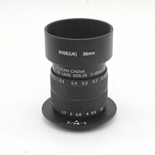 Fujian 35mm f/1.7 CCTV cine lens for M4/3 / MFT Mount Camera&Adapter bundle+hood