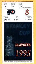 STANLEY CUP FINALS HOCKEY TICKET STUB-6/11/95 FLYERS/DEVILS