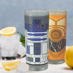 STAR WARS GLÄSER 2er SET C-3PO & R2-D2 GLAS LONGDRINK PARTYGLAS - HALF MOON BAY