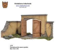 WWII entrada porton muros piedra ruinas diorama base 1/35