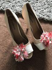 Odeon Size 7 Women's Stiletto High Heel Shoes Cram Floral Design Worn Once