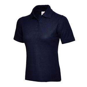 Ladies Uneek Classic Polo Shirt- Plain Short Sleeve Pique Workwear Staff Uniform