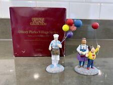 Dept. 56 Disney Parks Village Series Balloon Seller Porcelain Set of 2